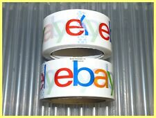 """2 ROLLS OF 2"""" WIDE 2 MIL EBAY BRANDED BOPP PACKING SHIPPING TAPE 75 YARDS EACH"""