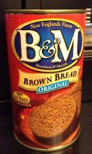 B&M Original Canned Brown Bread New Englands Finest Burnham & Morrill