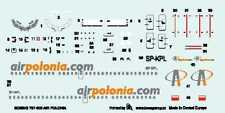"BOEING 737-300 ""AIR POLONIA"" AIRLINES (POLISH MKGS)  1/144 BOA DECAL SET"