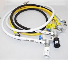 3x DATEX OHMEDA S5 ANESTHESIA OXYGEN PIPES AND VALVES