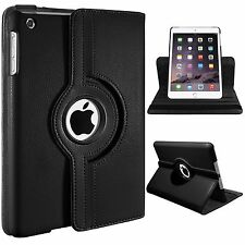 Leather 360° Rotatory Rotating Stand Smart Case Cover For Apple iPad Mini 1 2 3