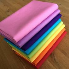 RAINBOW FABRIC BUNDLE 100% cotton FQ Bundle ~ 8 pieces SOLID COLOURS