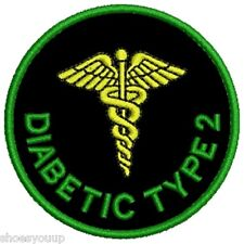 Our NEW Range of Medical Alert Embroidered Patches - Diabetic Type 2