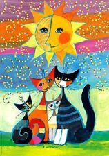 Puzzle Sonne, 1000 Teile, Rosina Wachtmeister, Katzen, Goldfoliendruck, Heye