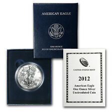 2012-W Burnished Silver American Eagle Coin - with Box and Certificate