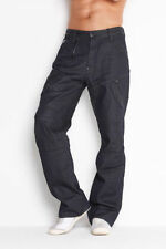 "G-Star Raw Mens Scuba 5620 Loose Jeans 28"" x 32"" BNWT Brace Denim Raw Blk/Blu"