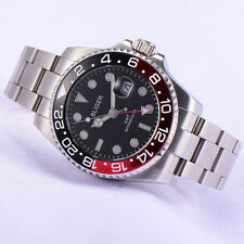 BLIGER 43mm Titanium Bezel GMT Luminous sapphire automatic Date Day watch 1873