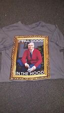 "Mr. Rogers Neighborhood ""It's All Good in the Hood"" Heather Gray Mens S 2014"