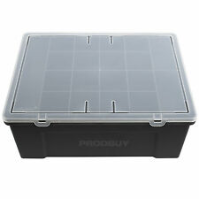 Plastic Rectangular 19 Part Organiser Box Tool Screw Storage Caddy Arts Crafts