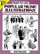 Ready-to-Use Popular Music Illustrations: 96 Different Copyright-Free Designs Pr