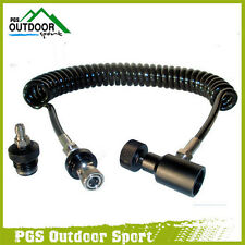 Paintball Air Coil Remote Hose Line w/Quick disconnect & Slide Check 4m Long