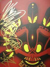 """Kidrobot Calavera Azteca 8"""" Dunny Signed By Jesse Hernandez Limited 1 2 3 Munny"""