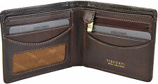 VISCONTI Mens Dark Brown RFID Leather 4 Card Wallet Gift Boxed - TSC46