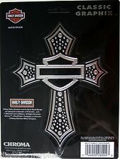 harley davidson motorcycle HD decal sticker chrome cross logo emblem bling cycle