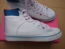brand new womens White checkered Pastry Tart Mid trainers size UK 7.5