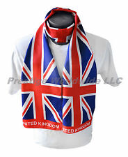 Union Jack Print Scarf *NEW* One-Size-Fits-All *FREE S/H* British Flag World Cup