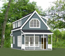 16x30 Tiny House --878 sq ft -- PDF Floor Plan -- Model 23A