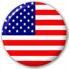 Small 25mm Lapel Pin Button Badge Novelty Usa - American Flag