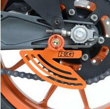 R&G ORANGE TOE CHAIN GUARD for KTM RC390, 2014 to 2016