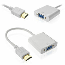 White HDMI Male to VGA Female Video Converter Adapter Cable 1080P HIGH QUALITY