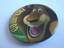 Alex Cool Cat From Madagascar Button Badge