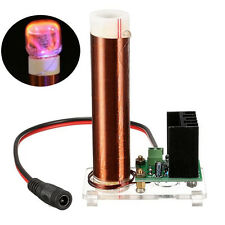 700K Mini Coil Tube Neon Glow Coil With Transparent Plate Power Supply For Tesla