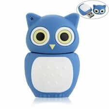 16GB USB 2.0 Memory Stick Flash Pen Drive Storage Cute Owl Blue AD
