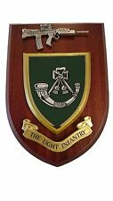 The Light Infantry Military Wall Plaque + Pewter SA80