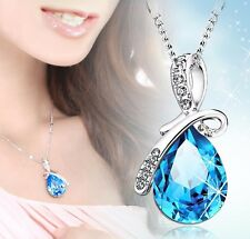 Free shipping! Womens 9K White Gold Filled AAA CZ Necklace with Pendant Y-N86-c