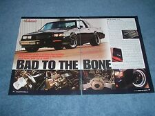 """1987 Buick GNX Grand National Resto-Mod Article """"Bad to the Bone"""""""