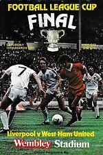 1981 FOOTBALL LEAGUE CUP FINAL PROGRAMME LIVERPOOL v WEST HAM UNITED