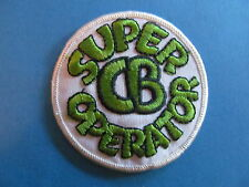 Vintage 70's Biker Vest Trucker Hat Hippie Jacket Patch SUPER CB OPERATOR White