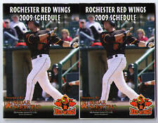 2009 Rochester Red Wings pocket schedules calendars TWO