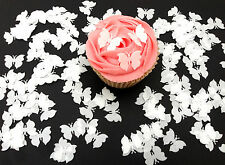 150 Edible White Butterflies Pre Cut Wafer Cupcake Toppers