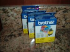 3 Sealed Genuine Brother LC41Y Yellow Ink Cartridges Expired in August of 2012