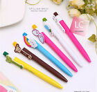 5 pcs Cartoon Cute Ball Point Roller Pen Stationery 0.38mm ball pen Writing New