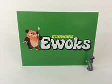 "Vintage Star Wars ewoks large logo backdrop For Display 16"" x 12"""