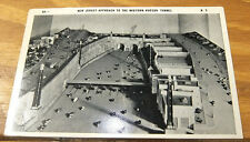 1940 Postcard/DIORAMA MODEL of NEW JERSEY APPROACH TO MIDTOWN HUDSON TUNNEL/NJ