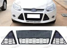 Front Bumper Grille Honecomb Lower Grills Kits for Ford Focus 2012-2014