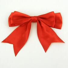 "1.2.10.20 or 50 x130mm (5"" wide) Giant Double Bows Satin Ribbon Bows With Tails"