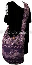 Shoulder SHOPPING BAG SLING Bohemian Thai Hippy Gypsy YAM PEACOCK PURPLE