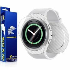 ArmorSuit - Samsung Gear S2 Screen+White Carbon Fiber Full Body Skin Protector