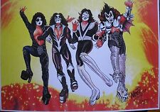 Kiss Limited Edition print numbered & Signed by Artist
