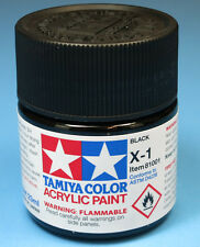 Tamiya GLOSS BLACK  Acrylic Hobby Model Paint X-1 X1 23ml Bottle 81001