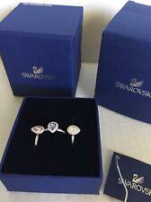 908758e40 Swarovski 5143555 Christie Crystal Detail Stacking Ring Set of 3 Size 52 6  for sale online | eBay
