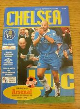 18/02/1998 Football League Cup Semi-Final: Chelsea v Arsenal  . (Any noticable f