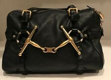 Gucci 85th Anniversary Black leather boston bag