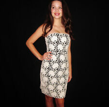 Kate Spade Madison-Ave-Collection Daxen Lace Dress Size 2 $998 CREAM ON BLACK