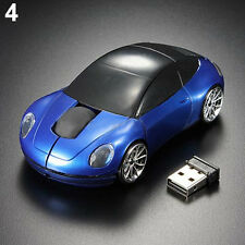 BLUE OPTIMISTIC CHIC RACING CAR 2.4GHZ WIRELESS OPTICAL MOUSE/MICE USB FOR PC