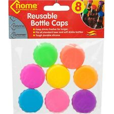 8 x Reusable Bottle Caps Beer Coke Soda Cola Lid Wine Saver Silicone Soft Drinks